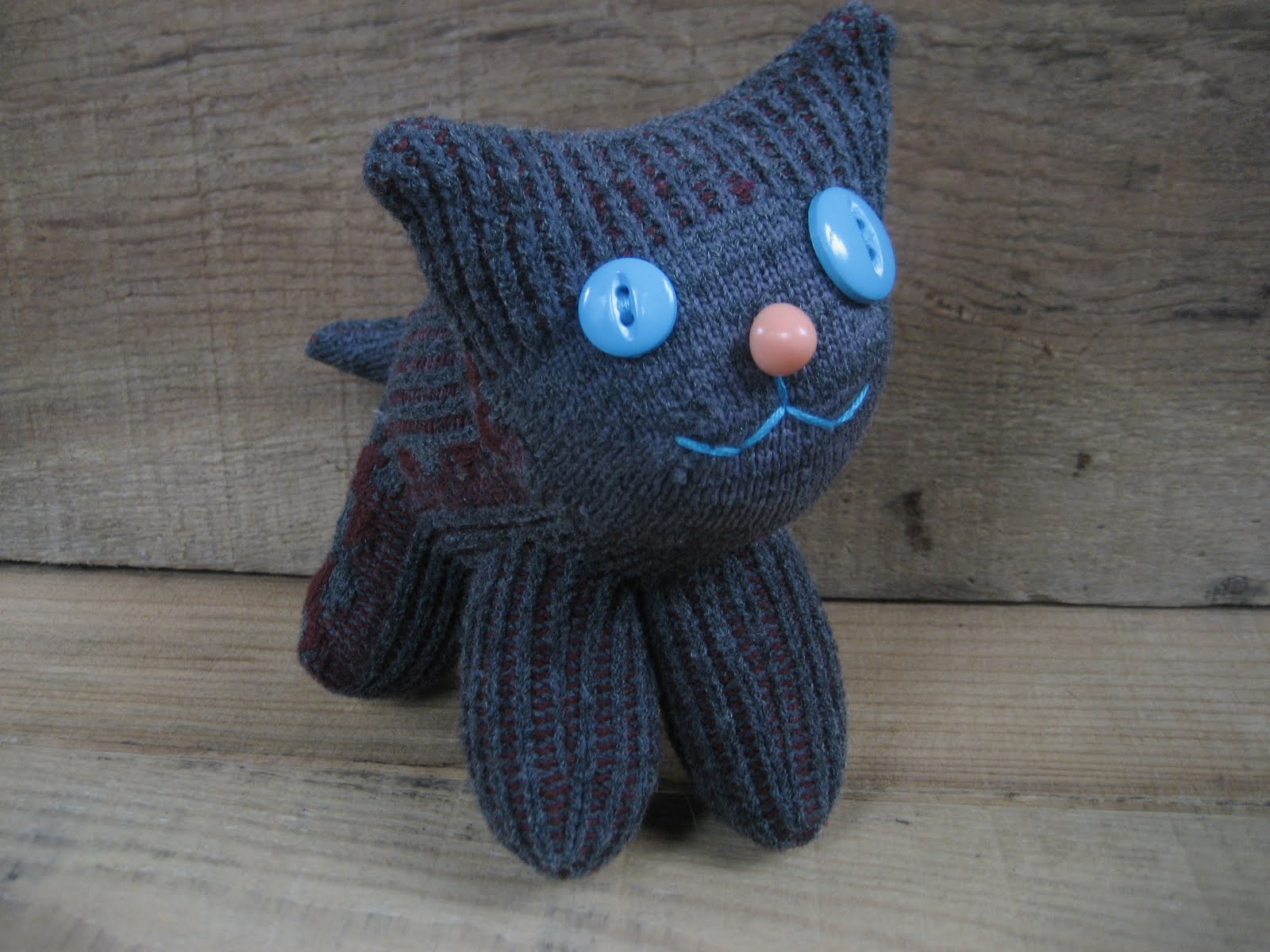 sock cat s crafty grey sock cat