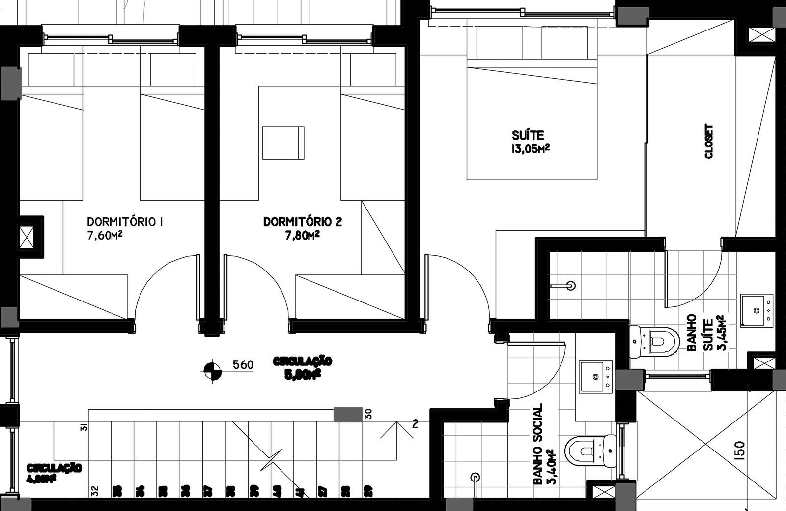 um banheiro social. Ambos os banheiros possuem ventilação natural #666666 1600 1039