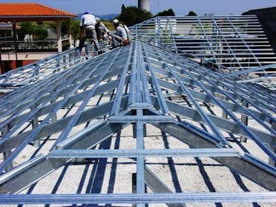 Como fazer telhado colonial com estrutura metalica