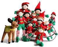 elf family background for christmas