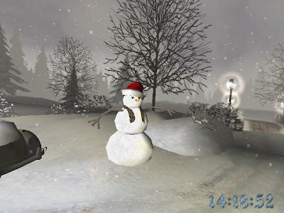 3d christmas snowman background