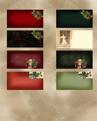 Christmas Card Backgrounds Collection