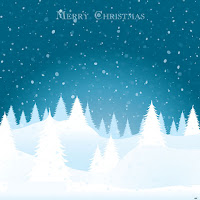 Christmas Card Vector Illustration Background