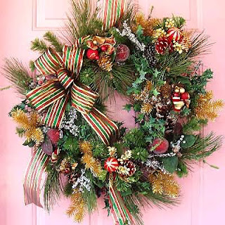 Christmas Wreath with Romantic background