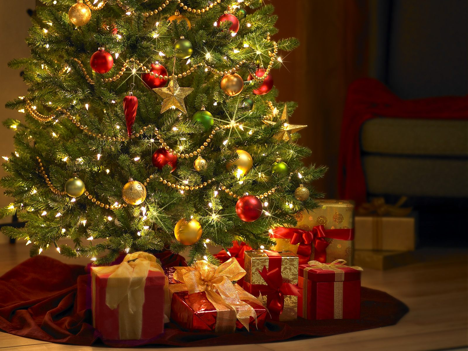 Animated Christmas Tree Computer Wallpaper