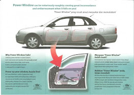 Power Window Waja (Steel Type)