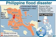 The areas hit by Tropical Storm Ondoy