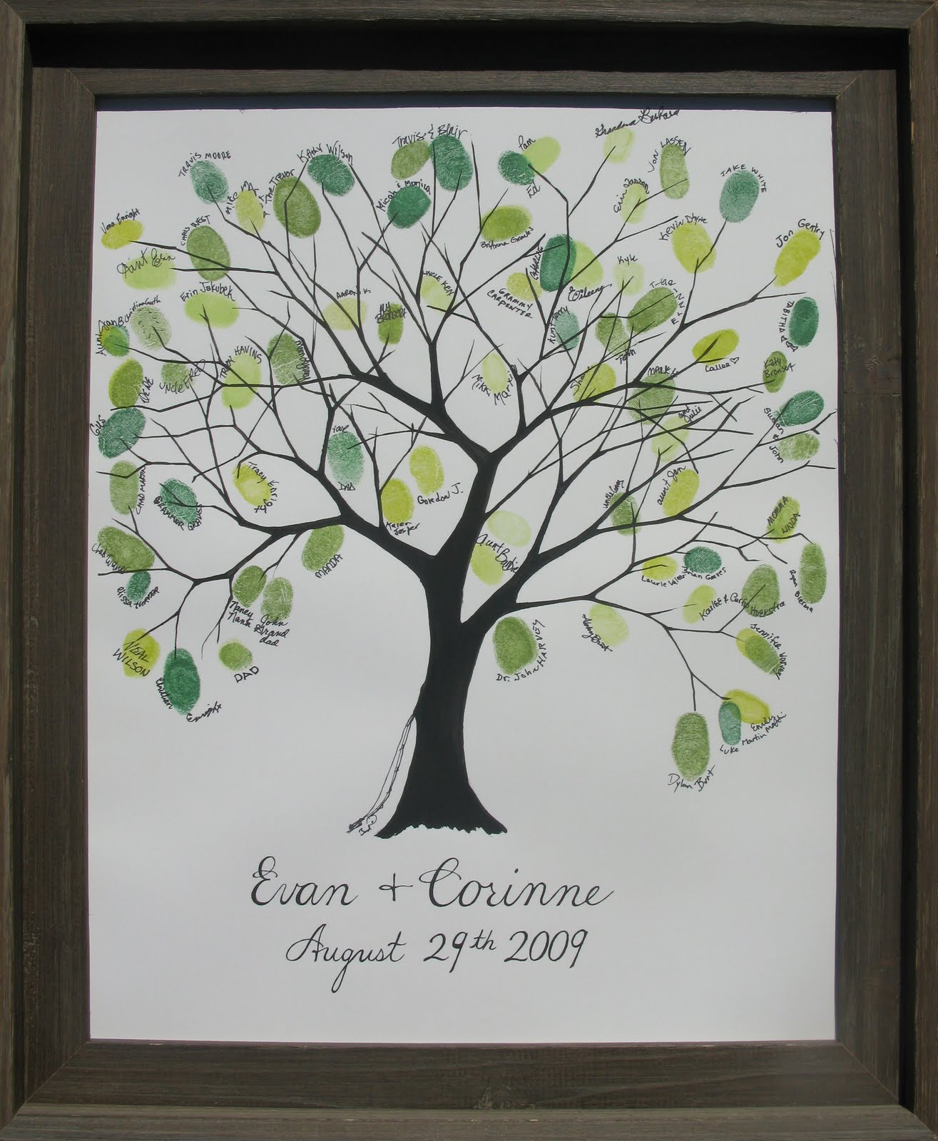 Thumbprint Tree Guest Sign: Things I Covet: Wedding Tree
