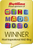 Winner Most Inspirational Blog 2010