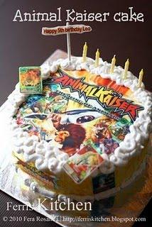 Animal Kaiser Birthday Cake Animal Kaiser Singapore
