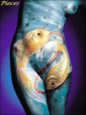 body painting painting models