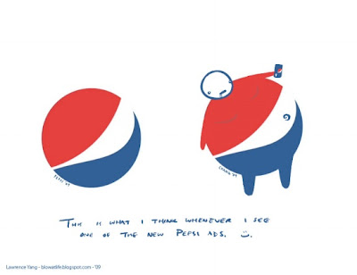 fat people with glasses. Pepsi Knows Their Logos Look Like Fat People.