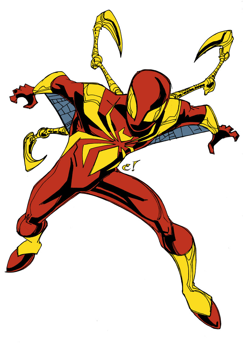 Fantastic Iron Spider Coloring Pages Gallery