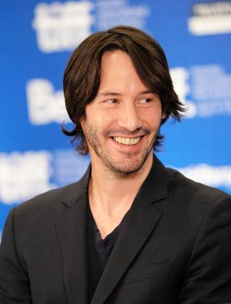 Actor Keanu Reeves speaks at