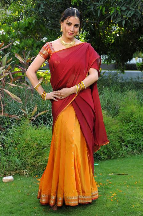 shraddha arya in half saree photo gallery
