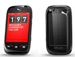 Solar powered cell phone