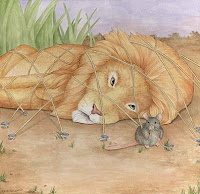 fable, the lion and the mouse