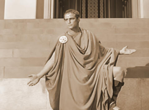 Antony with caesars body (act 3, scene 2; mid- to late 19th century)
