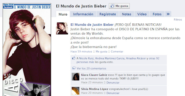 DISCO+PLATINO  Disco de Platino en España para Justin con My Worlds The Collection