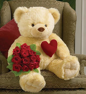 romantic teddy gift card