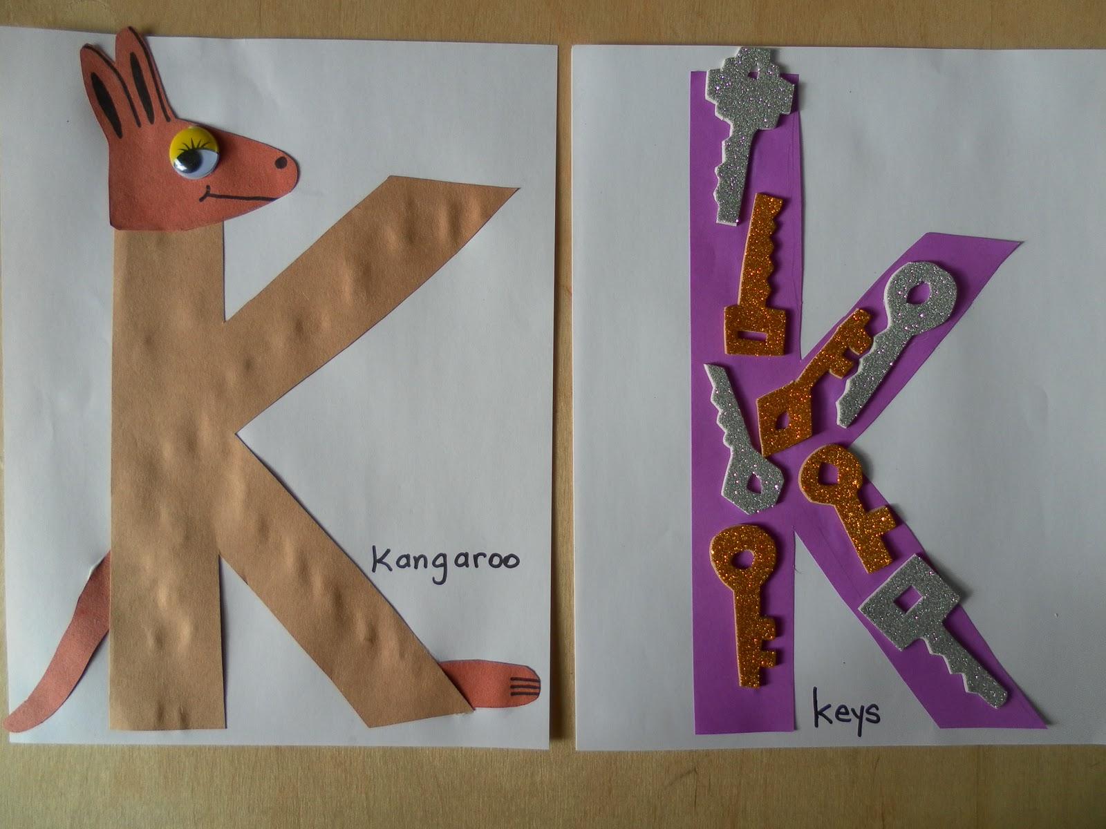Juf florine florinehorizon for Letter k crafts for toddlers