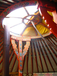 inside the yurt in mongolia