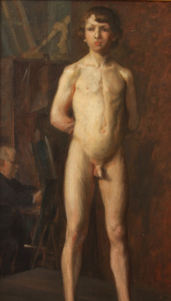 Vilhelm Holmgren (1863-1943) Nude Boy - Nude Female - Academic Studies