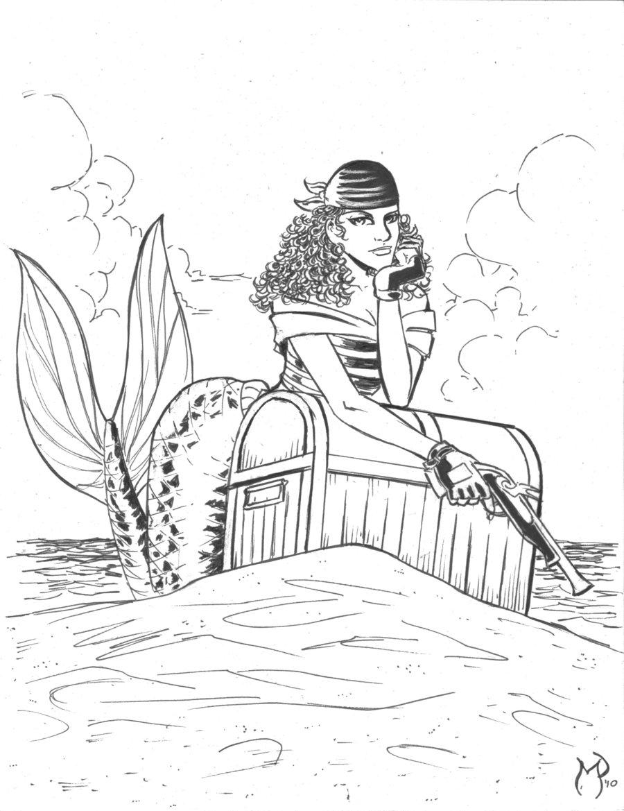 236 pirate mermaid inks