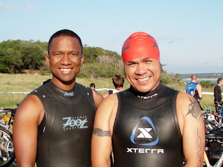 donning wetsuits