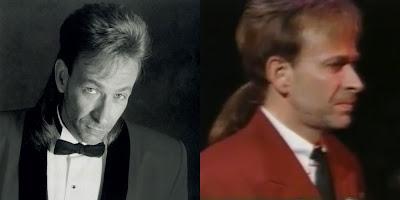 Bobby Caldwell ponytail mullet hair