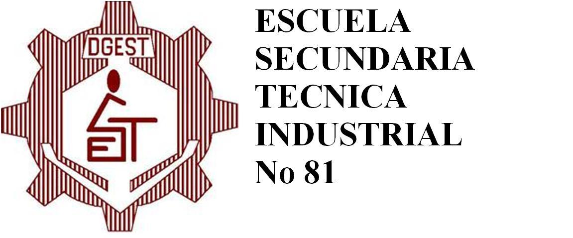 ESCUELA SECUNDARIA TECNICA INDUSTRIAL No. 81
