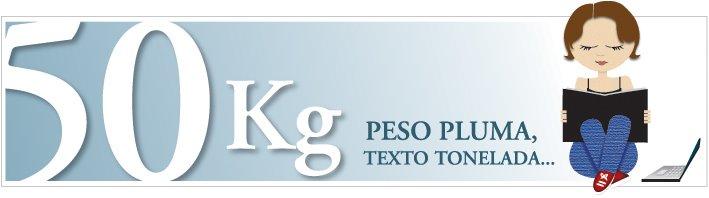 50 kg - Peso pluma, texto tonelada...