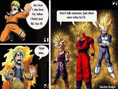 Naruto, songoku, dragonball