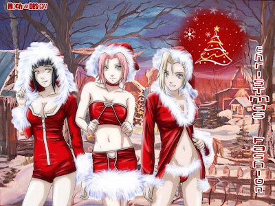 sakura, hinata, ino, christmas wallpapers