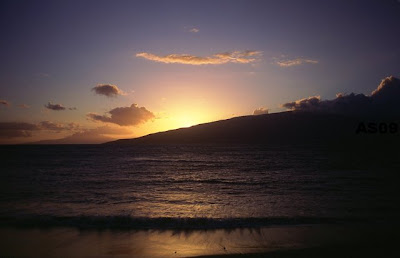 Sunset from N. Kihei, Maui, Nov. 2008