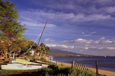 Boats on Sugar Beach, North Kihei, Feb 2009