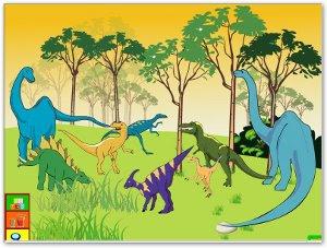 Juega con los dinosaurios
