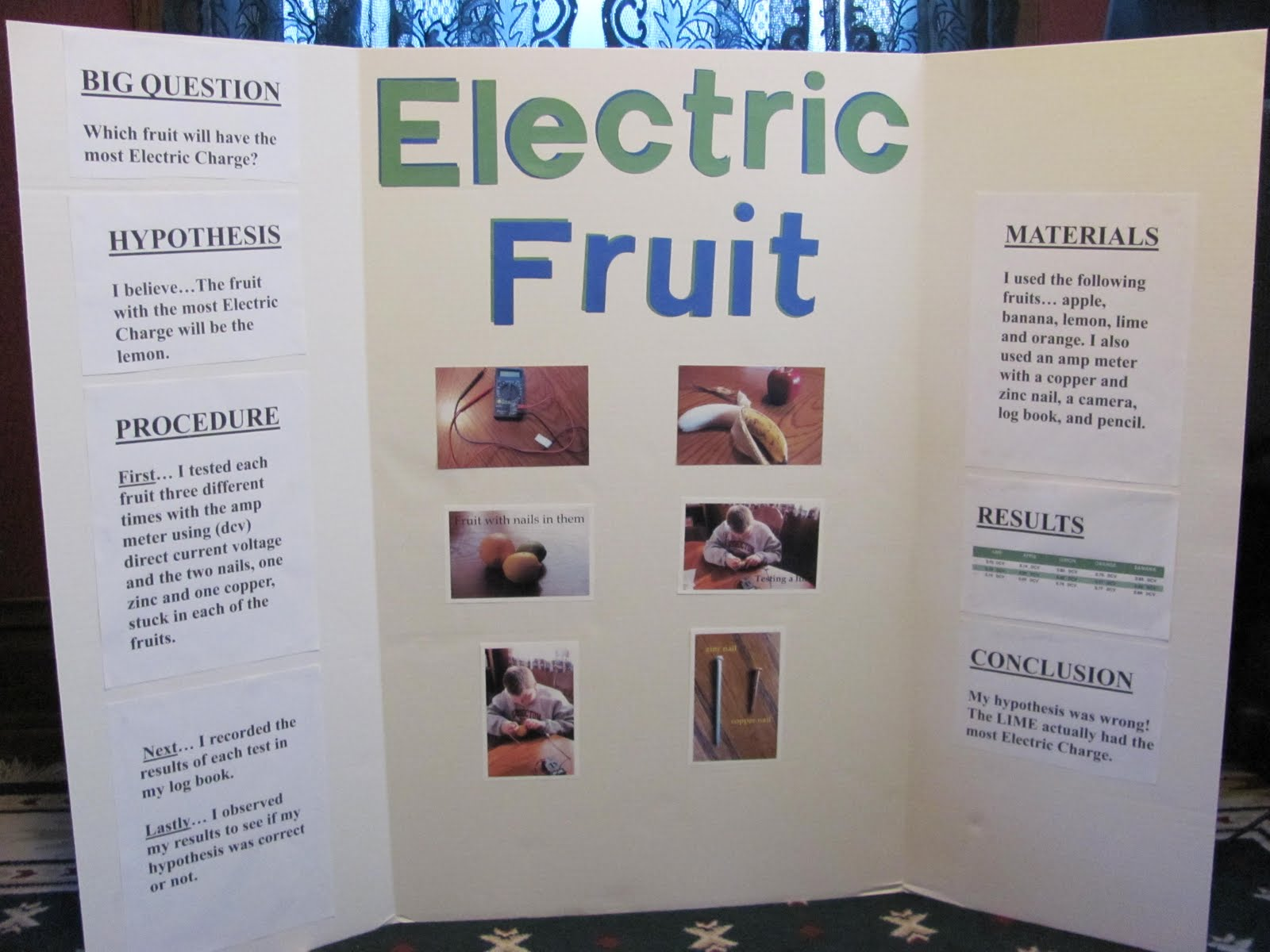 Drew's 6th Grade Science Fair