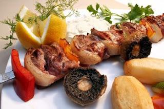 مشاوي لحم الخاروف والخضار