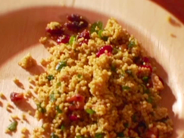 Curried Pearl Couscous With Cranberries And Almonds Recipe ...