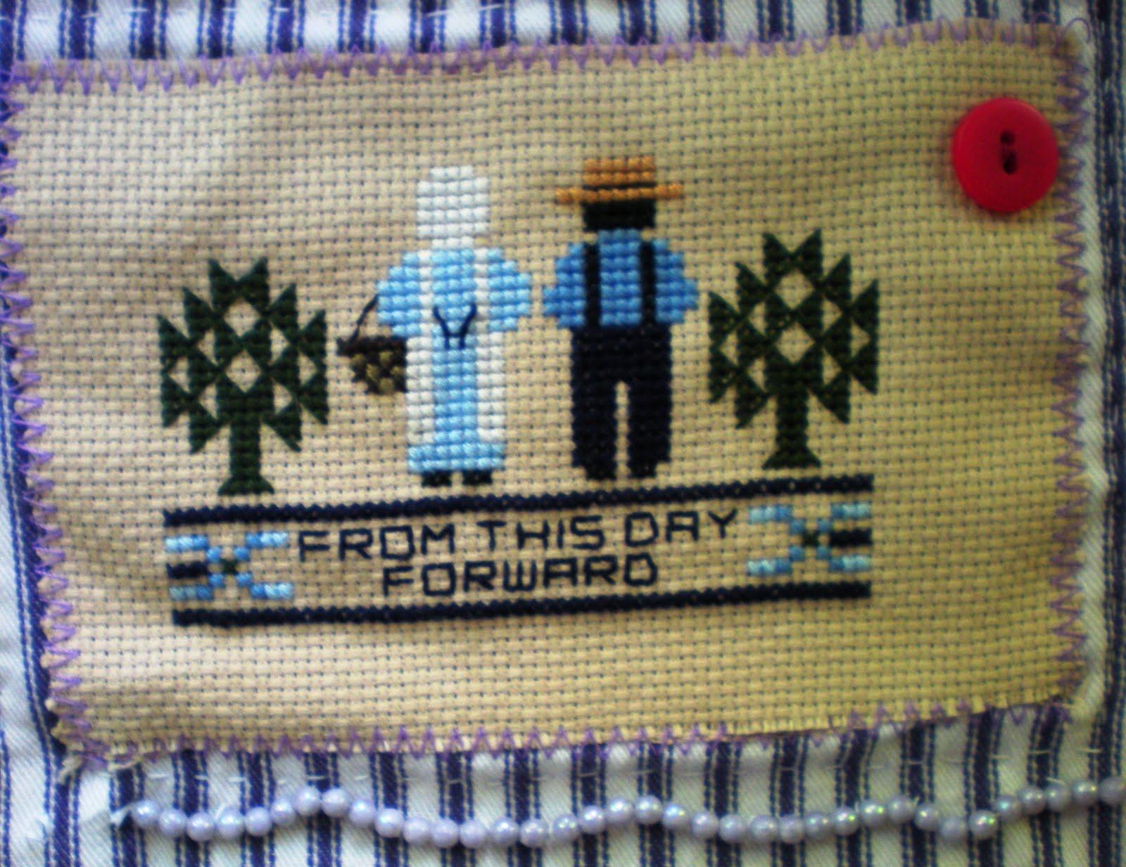 amish cross stitch quilting