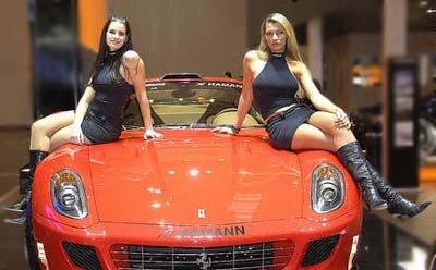 Burlappcar German Auto Show Babes