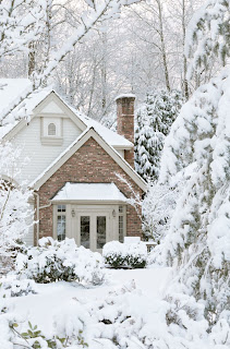 image of house in winter