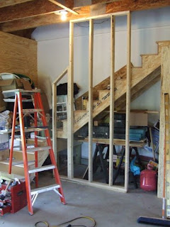 picture of raked wall framing