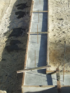 picture of concrete footings for a new house