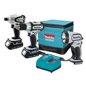 Makita+Lithium Ion+3PC+Cordless+Combo Makita LCT300W 18V Compact Lithium Ion 3PC Cordless Combo