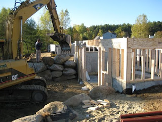 picture of walkout basement framing