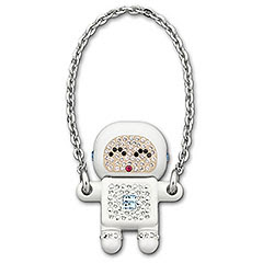 Swarovski Crystal Robot Happy Laura USB Memory Key