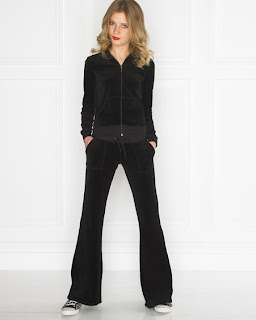 Juicy Black Velour Tracksuit