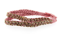 Stacey Lapidus Double Braided Silk Headband with Crystals